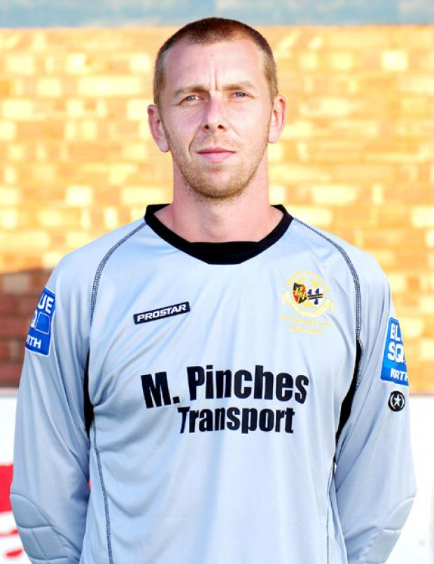NOT GIVING UP: Worcester City goalkeeper Glyn Thompson.
