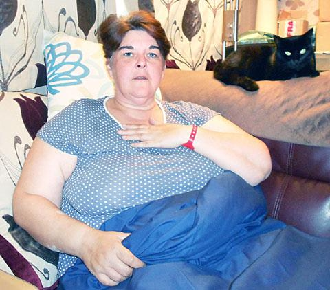 DISTRESSED: Tracy Mudway is unhappy at her treatment at Worcestershire Royal Hospital.
