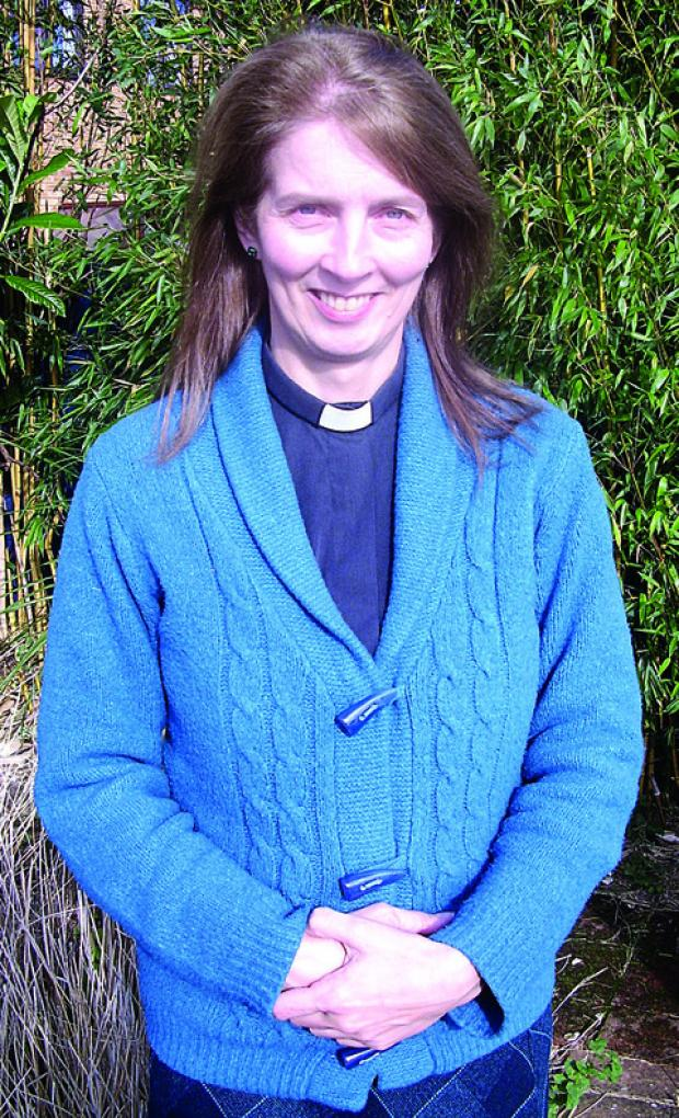 SHE'S ON THE MOVE: The Reverend Christine Turpin.