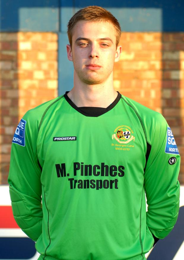 MATT SARGEANT: The young keeper played in front of a crowd of more than 1,000 at St George's Lane on Monday night as City beat Weston 1-0.