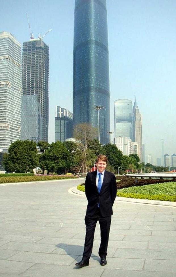TRIP: Worcester MP Robin Walker during his trip to China.