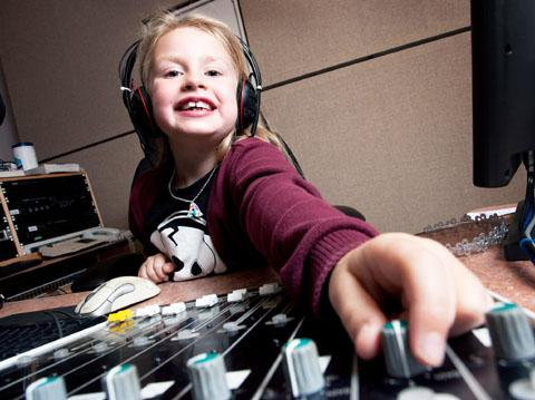 Amber Jacobs – known as DJ AJ – has a regular slot on a Sunday morning show.