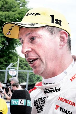 MATT NEAL: Has slipped down to third in the driver table.