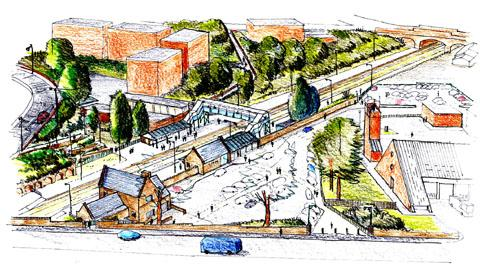 AMBITIOUS SCHEME: An artist's impression of the agreed £500,000 project to revamp Malvern Link station.