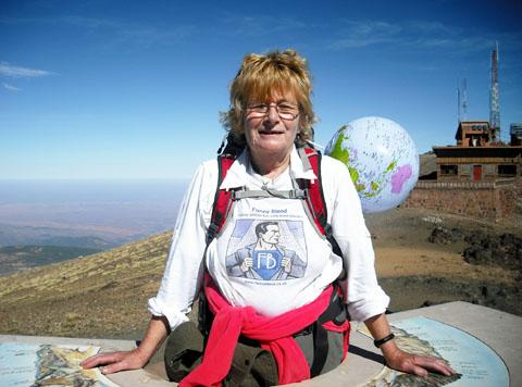 HIGH HOPES: Lyn Hancock travelled all the way to Morocco to raise money for the cause Funny Blood.