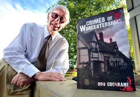 GRUESOME TALES: Don Cochrane with his book, Crimes of Worcestershire. Picture by Jonathan Barry. BUY: worcesternews.co.uk. 39139402.
