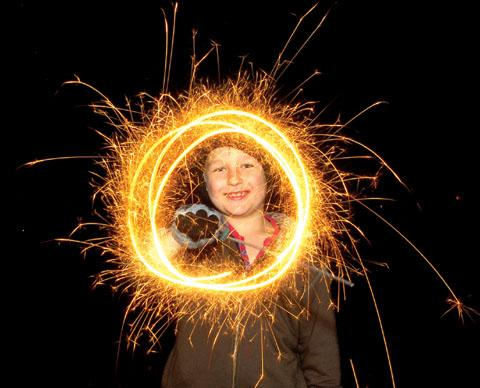 BONFIRE TIME: Seb Sidwell has lots of fun with a sparkler (44131806)