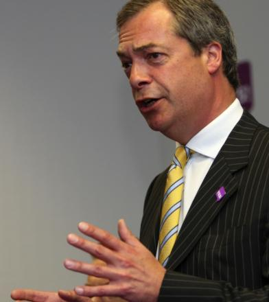 UKIP leader Nigel Farage was in Worcester tonight