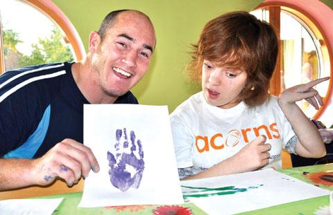 YOU NEED HANDS: Shaun Perry at Acorns Children's Hospice.