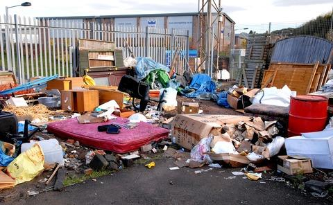 SHAMBLES: The scene at Guardian Self Storage after victims searched for their possessions