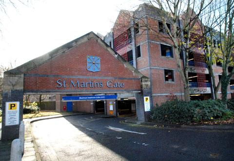DROP: St Martin's Gate car park has seen income fall by 25 per cent since Asda opened.