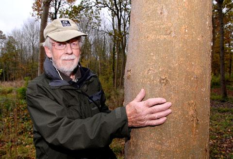 WOODLAND WOE: Worcestershire Wildlife Trust officer Harry Green in Tiddesley Wood, Pershore, where ash trees could be badly hit by the chalara disease. Picture by Paul Jackson. (45172501)