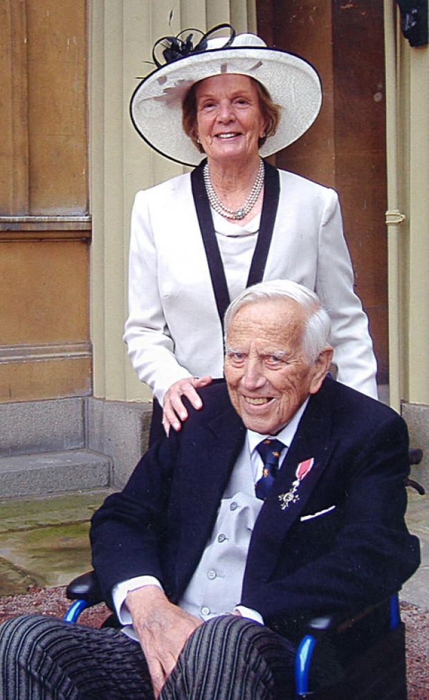 WHAT A LIFE: George Chesterton received an MBE from the Queen two weeks before he died.