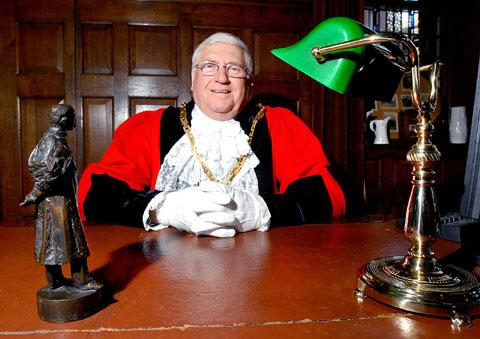 ACCOLADE: Calls are being made to honour Mike Layland, seen above in his mayoral robes back in 2010.(20498501)