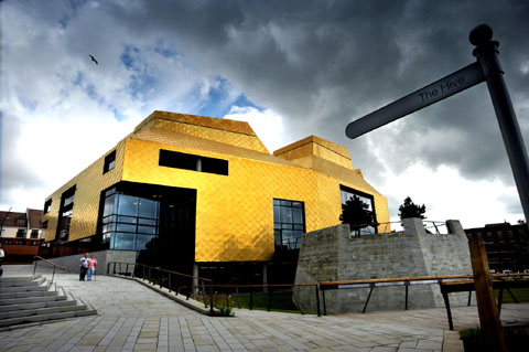 TEETHING PROBLEMS: University of Worcester students say the Hive is too noisy to study in.