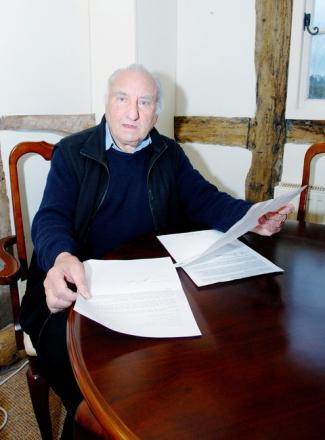 VICTIM OF CRIME: Gerald Dargle is angry that no one has been prosecuted after the burglary at his Cradley cottage.