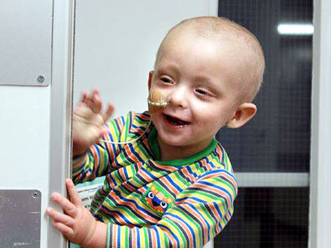 SMILES: Charlie Harris-Beard, who has acute myeloid leukaemia