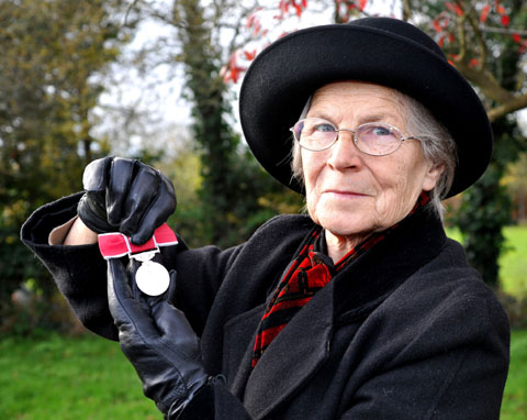 HONOUR: Long-serving Kempsey parish councillor Joy Clee with her British Empire Medal.