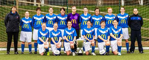 TEAM PHOTO: The Worcester United women's football squad