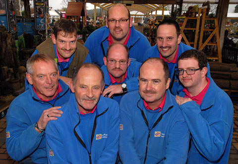 ITCHY: Workers at St Peter's Garden Centre grow their mos for Movember (46178701)