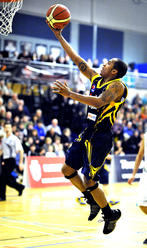 BADLY MISSED: Sherrad Prezzie-Blue is yet to link up with the Worcester Wolves this season due to work permit issues.