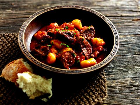 Slow-cooked beef with gnocchi