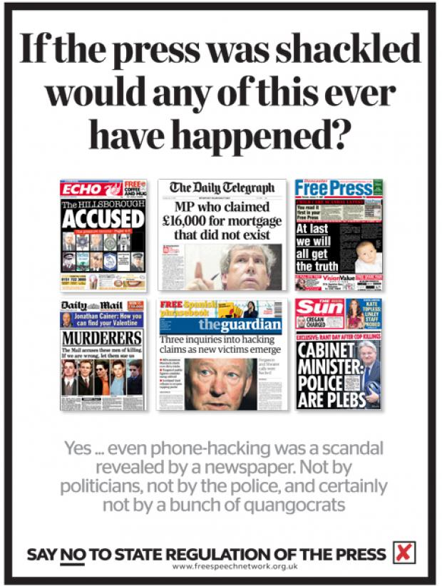Worcester News: Leveson - say NO to state regulation of the Press