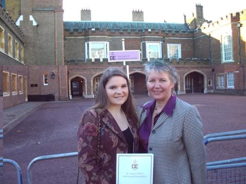Golden girls: Jess Wilson and her mum Jane after she collected her gold award from the Duke of Edinburgh.