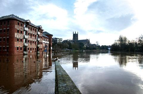 Flooding in Worcester last month