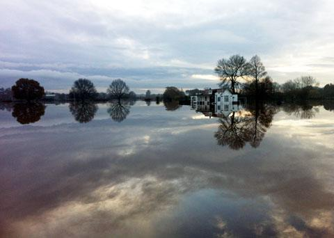 Worcester News: FLOODED: 2012 was second wettest on record. Picture by Amy Phillpott