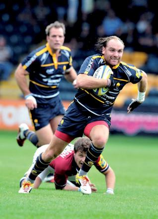 ANDY GOODE: Happy to remain at Sixways.
