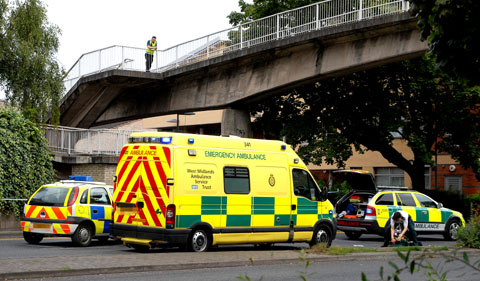EMERGENCY: Ambulance crews on City Walls Road (32105302)