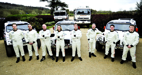 DRIVEN: Corporal Tom Neathway, second from the right, with the rest of the team.