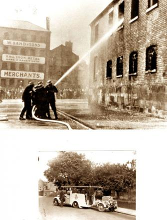 ACTION: The National Fire Service did sterling service during the war.