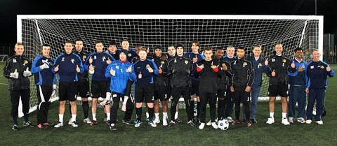 PLEDGE: Worcester City Football Club players are one of several county sporting teams who have joined the campaign to stop domestic abuse.