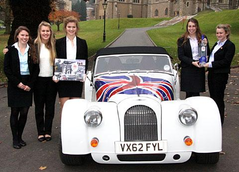 BEST OF BRITISH: From left, pupils Rebecca Raby Smith, Rebecca Connell, Holly Makin, Amy Cooke and Jessica Coulman.