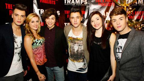 POPULAR ATTRACTION: X Factor finalists Union J meet female admirers during their appearance at Tramps in Worcester.