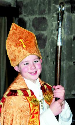 MEDIAEVAL TRADITION: Junior bishop George Paterson.