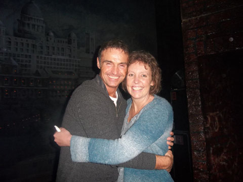 BACKSTAGE TOUR: Sadie Lewis with Marti Pellow, star of the musical Blood Brothers.