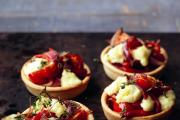 QUICK AND EASY: Crumbly Lancashire, red onion and pepper tarts.