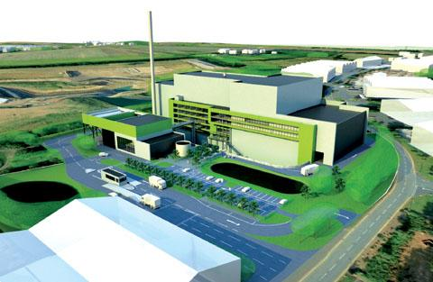 ARTIST'S IMPRESSION: Campaigners have been bitterly fighting the plan for a £120 million incinerator in Hartlebury.