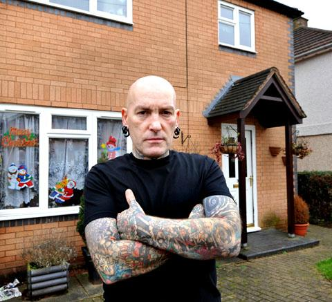 CONCERN: Martin Griffin outside his home in Grenville Road, Dines Green. Picture by John Anyon. 0113213006