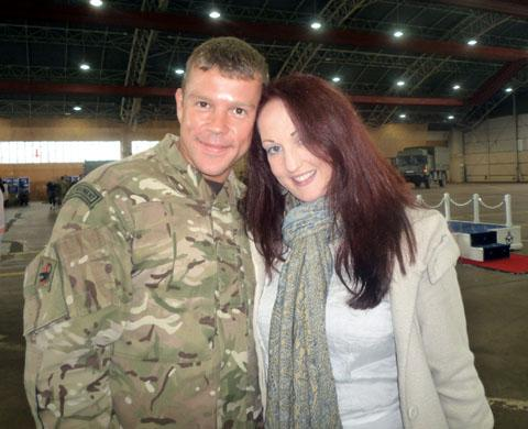 HAPPY: Soldier Steve Savage proposed to his girlfriend Jenny Black on Christmas Day.