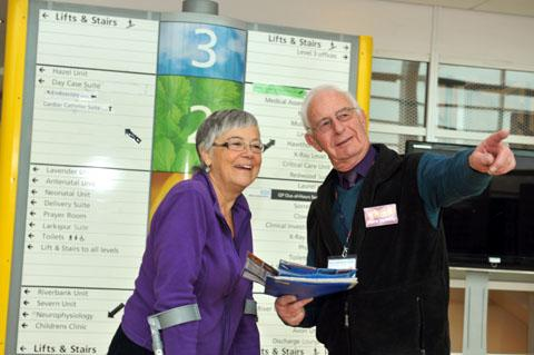 THANKS: Patient Rachelle Wolfe with volunteer Barry Leatherland.