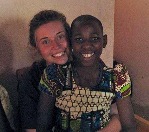 AFRICAN ADVENTURE: Pershore teenager Rachel Corbett is in Uganda.