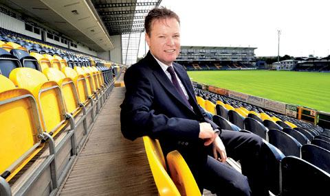 FULL OF PRAISE: Managing director Charlie Little highlighted the impact of rugby operations director Corin Palmer at Sixways.