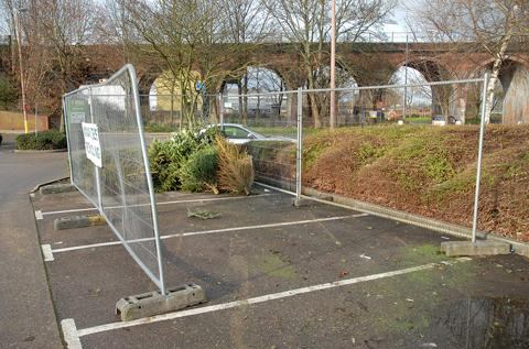 GREEN scheme: The Homebase car park in Hylton Road, Worcester, is one of four sites in the city where Christmas trees can be revcycled. Picture: Nick Toogood. 0113214302