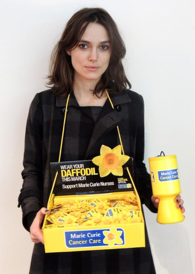Flower power: Actress Keira Nightley is backing the Great Daffodil Appeal.