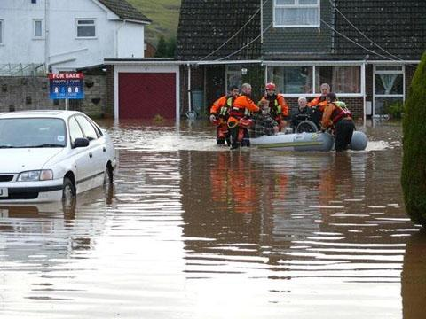 RESCUE: WMSAR in action in Devon – but now the focus is shifting to finding missing people. Picture by Judy Gibson.