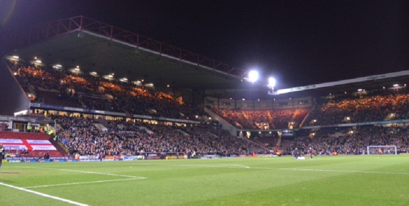 The scene at Valley Parade before kick-off